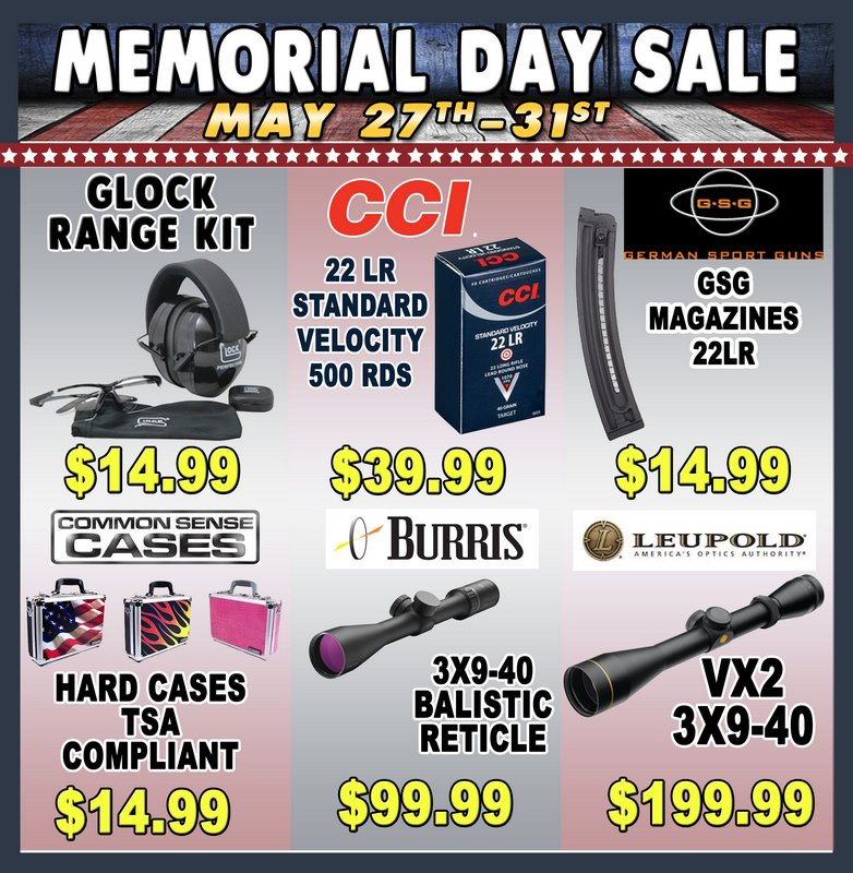Scopes and shooting accessories  - 2017 Memorial Day Sale at Big Woods Goods