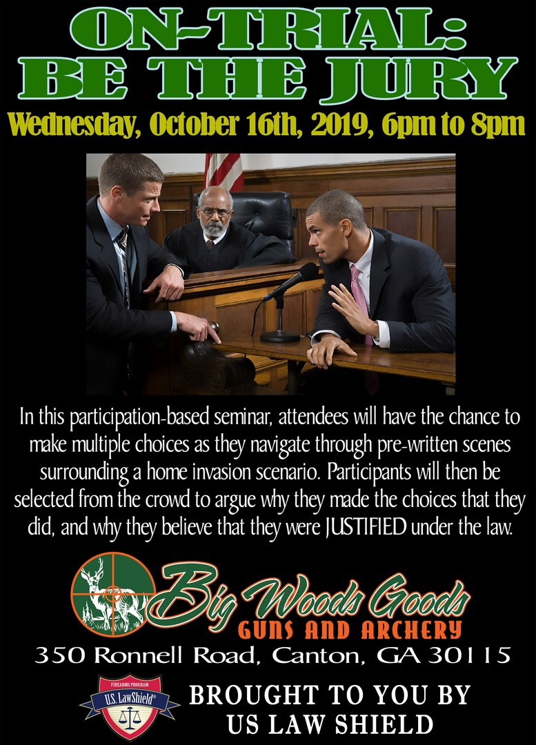 2019-10 Law Seminar - On Trial, Be the Jury